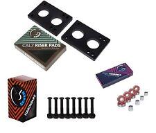 """Cal 7 1.25"""" Hardware + 1/4"""" Riser Pads, Bearings and Spacers"""