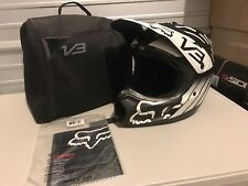 Fox Racing V3 Savant Helmet Small Black Motocross Dirt Bike Off-road Atv Mx MIPS