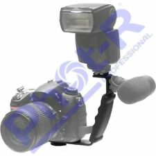 Phot-r Heavy Duty Professional L Shaped Flash Bracket Flashlight Camera Holder Q