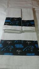 Carolina Panthers 3 Piece Bath Towel Set Handmade  GREAT GIFT!!!!
