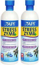 (2 Pack) API Stress Zyme Freshwater & Saltwater Aquarium Cleaning Solution 16oz