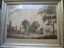 Yale College and State House, New Haven framed print (19th cent. original print)