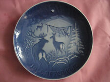 "Copenhagen Porcelain 1980,Jahresteller ""Christmas in the Woods"",made in Denmark"