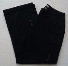 CHICO'S Platnum Women's Multi Pocketed Black Denim Capri Jeans Size 4 (0 Chico)