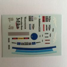 DECALS KIT 1/18 FIGURA + CASCO MIKA HAKKINEN MCLAREN F1 CHAMPIONS 98/99