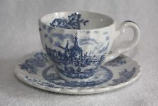 "Johnson Brothers Made In England Ironstone Demitasse Cup and Saucer ""Tulip Time"""