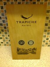 Trapiche Malbec Empty Wooden Wine Box for 2 bottles with hinged lid