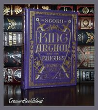 Story of King Arthur & His Knights by H. Pyle Sealed Leather Bound Collectible