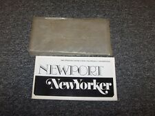 1980 Chrysler New Yorker & Newport Original Owner Owner's Operator Manual Set