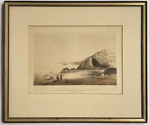 USPRR Exp. & Surveys Lithograph - Water Lines And Shores Of The Ancient Lake