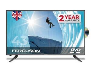 "FERGUSON 43"" LED TV WITH DVD PLAYER FULL HD 1080P FREEVIEW HD 3 x HDMI & USB"