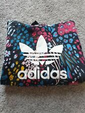 Adidas hoodie Floral print ladies / girls multicoloured & black UK8