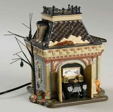 """* Dept 56 Halloween Lot """"Grimsly'S Garage"""" + """"Grimsly'S Tool Shed"""" - Nib*"""