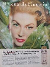 1957 Helena Rubinstein Suzy Parker Super Model Cosmetics Photo Vintage Print Ad