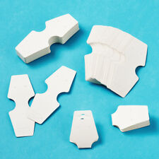 100pcs Paper Jewelry Display Cards White for Necklace Bracelet Anklet 122x45mm