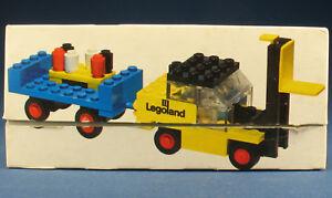 LEGO 652 - Gabelstapler - Fork Lift Truck and Trailer-in OVP / Legoland Box 1972