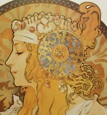 """BYZANTINE HEAD THE BLONDE 1897"" Alfons Maria Mucha Print"