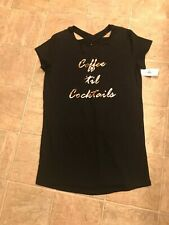 """Women's black keyhole gown """"Coffee 'til Cocktails"""" size S Just Be"""