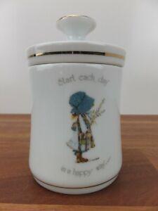 Vintage HOLLY HOBBIE Porcelain Jam Jar with Lid Made in Japan