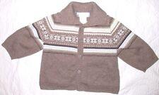 Baby Girls 3 - 6 Months Janie & Jack Layette Brown Blue Knit Cardigan Sweater