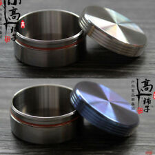 Titanium Round Waterproof Mini Pill Box Case Travel Medicine Container