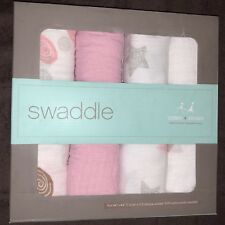 "Aden + Anais - Muslin Swaddle 4-pack - 44""x44"" - Pink & White"