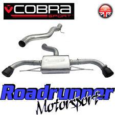 """Cobra Audi TT MK2 3.2 V6 Cat Back Exhaust System Stainless Non Res 3"""" AU60 Black"""