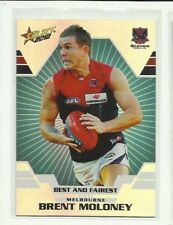 2012 AFL SELECT CHAMPIONS BEST AND FAIREST MELBOURNE BRENT MOLONEY BF10 CARD
