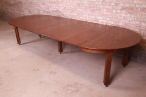 Antique Stickley Mission Oak Arts & Crafts Extension Dining Table