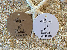 10 Kraft White Gift Tags Bomboniere Wedding Favour Personalised Rustic