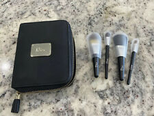 Dior Mini Brush Set  4 Brush and Case -  New Brushes Makeup Bag Wallet