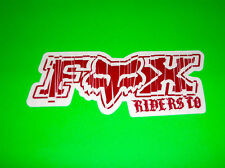 FOX RACING MOTOCROSS QUAD ATV UTV SKATEBOARD SNOWBOARD BMX CHUCKY STICKER DECAL