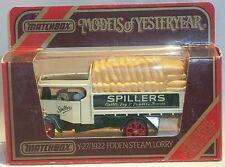 KKar Matchbox - Yesteryears - Y-27 - 1927 Foden Steam Lorry - Spillers