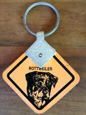 2 Stück Schlüsselanhänger Australien Warnschild Hund ROTTWEILER