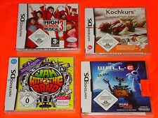 4 x NEUF Nintendo DS jeux également pour Nintendo DSi xl 3ds Disney wall e cours de cuisine