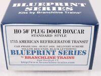 Branchline 1715 HO 50' Plug Door Boxcar Kit American Reefer ART WADX  #3303