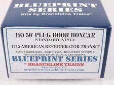 Branchline 1715 HO 50' Plug Door Boxcar Kit American Refrigerator Transit #3303