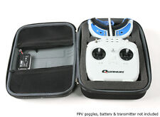 Transmitter & Goggle strong case bag for JR Spektrum Futaba DJI Turnigy Black UK