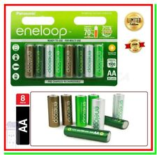 8 Eneloop Pile Ricaricabili AA Batterie Stilo 1900mAh NiMH HR6 Botanic 2100cicli