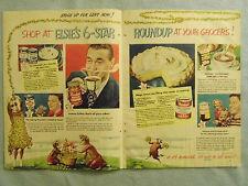 1949 Magazine Advertisement Page Borden's Milk Instant Coffee Hot Chocolate Ad