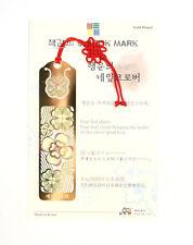 Traditional Korean reader Metal Bookmark - four-leaf clover