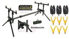 DAM MAD® D-FENDER ROD POD 3 x Pro Tronic Bissanzeiger + 6 x Rutengabeln + Tasche