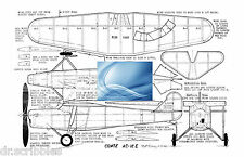 Model Airplane Full Size Printed Plan Peanut Scale Comte AC-1ZE & Article