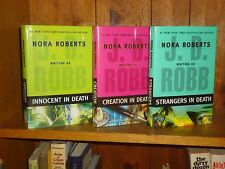 Lot 3 Nora Roberts BC/DJ JD Robb Innocent Creation Strangers in Death Eve Dallas