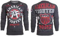 AMERICAN FIGHTER Men Sweat Shirt DAVENPAINT Athletic BLACK Biker Gym MMA UFC $78