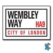 Wembley Way England World Cup Football Street Sign A4 Metal Plaque Decor