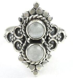 Daydreamer Ring, Sterling Silver Aqua Marine Ring, Stone Jewelry, Ethnic