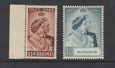 - BAHAMAS - SG194-195 MNH 1948 ROYAL SILVER WEDDING