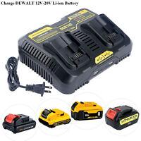 For DEWALT DCB207-2 20V 20 Volt Li-Ion Battery Packs DCB107 Charger New 2019