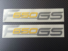 BMW F650 GS decals sticker graphic kit silver/yellow /  F650GS decal